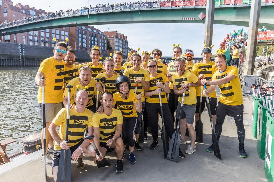 Team des Analyselabors QSI bei Drachenbootcup 2019